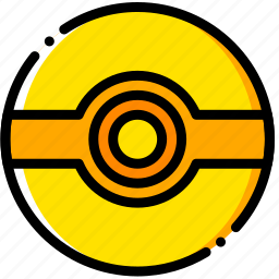 ball, movie, poke, pokemon, yellow icon
