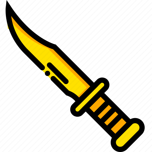 Kill, knife, movie, rambo, yellow icon - Download on Iconfinder