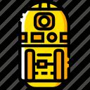 movie, star, wars, yellow, r2 icon