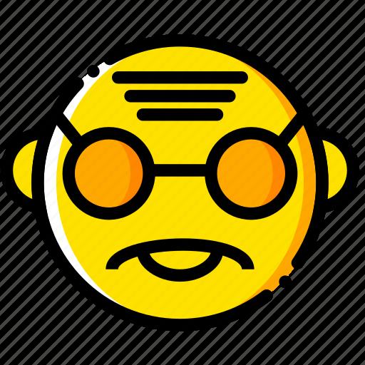 gandhi, head, movie, wise, yellow icon
