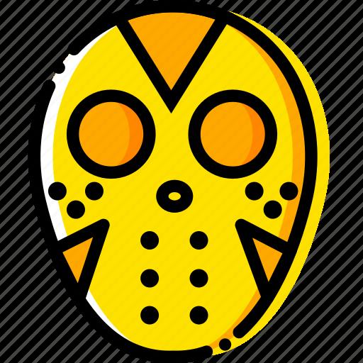 friday, movie, the, thriteen, yellow icon