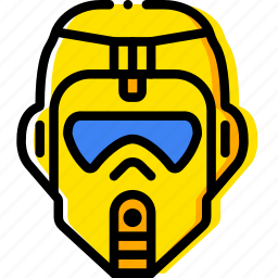 head, jungle, movie, tropper, yellow icon
