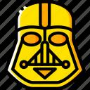 movie, star, wars, yellow, vader icon