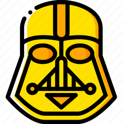 movie, star, vader, wars, yellow icon