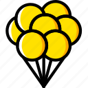 air, balloons, movie, up, yellow icon