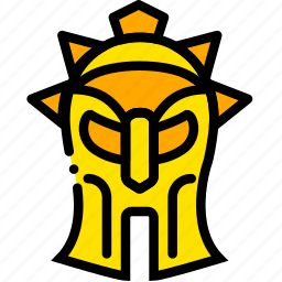 gladiator, head, movie, the, yellow icon