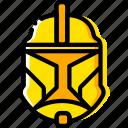 clonetrooper, movie, star, wars, yellow
