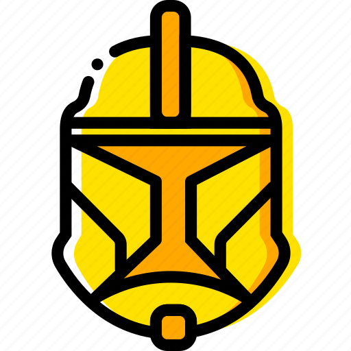 clonetrooper, movie, star, wars, yellow icon