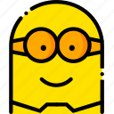 head, minion, movie, smile, yellow icon