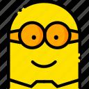 minion, movie, head, yellow, smile icon
