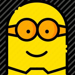 head, minion, movie, smile, yellow icon