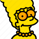 head, marge, movie, simpsons, yellow icon