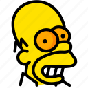 head, homer, movie, simpsons, yellow icon