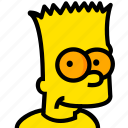 bart, head, movie, simpsons, yellow icon