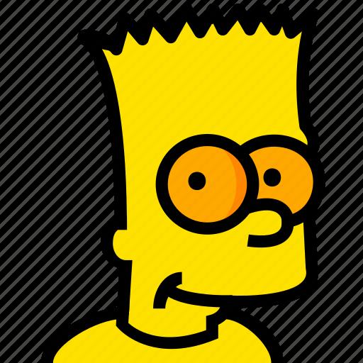 bart, head, movie, simpsons, yellow icon