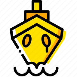 movie, ship, sink, titanic, yellow icon