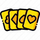 cards, movie, casino, royale, yellow icon