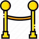 movie, line, hold, waiting, yellow icon