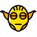 movie, star, wars, yellow, yoda icon