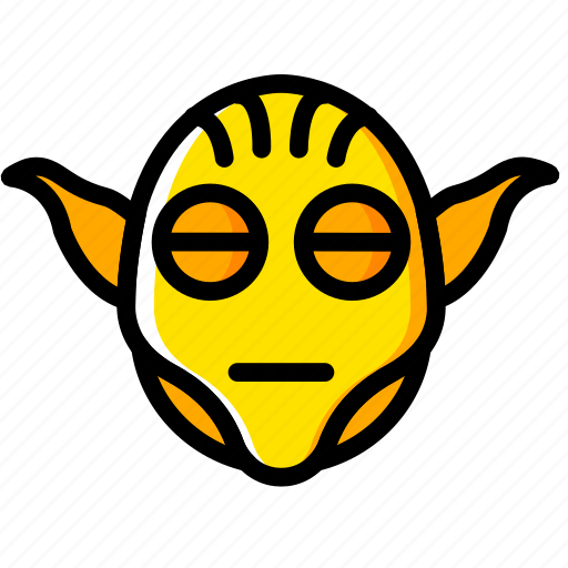movie, star, wars, yellow, yoda icon