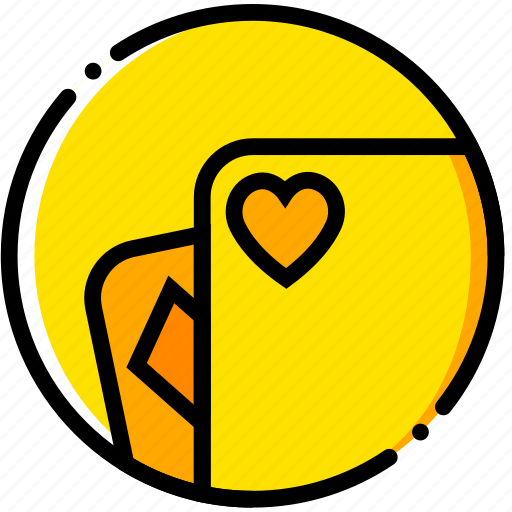 cards, casino, movie, poker, yellow icon