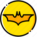dark, emblem, knight, movie, yellow icon