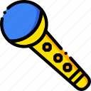 microphone, music, play, show, sound, yellow icon