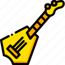 guitar, music, play, rockstar, yellow icon