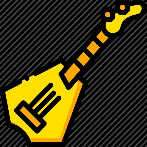 guitar, music, play, rockstar, yellow icon