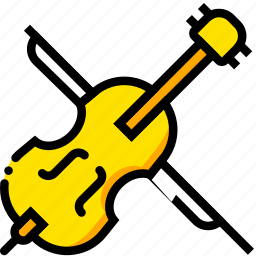cimbalon, music, play, sound, yellow icon