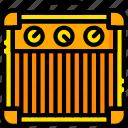 amplifier, guitar, music, play, sound, yellow