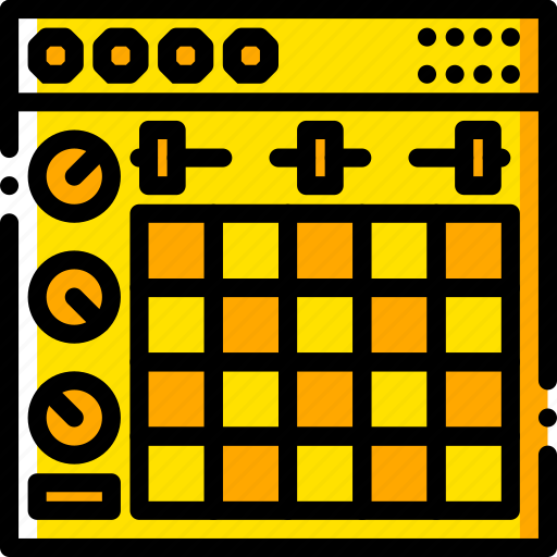 ableton, music, play, sound, yellow icon