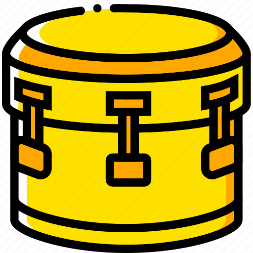 bass, drum, music, play, sound, yellow icon