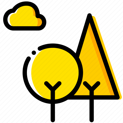 forest, outdoor, wild, yellow icon