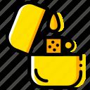 lighter, outdoor, wild, yellow icon