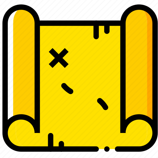map, outdoor, wild, yellow icon