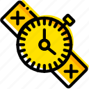 outdoor, survival, watch, wild, yellow icon