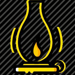 gas, lamp, outdoor, wild, yellow icon