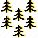 outdoor, pines, wild, yellow icon