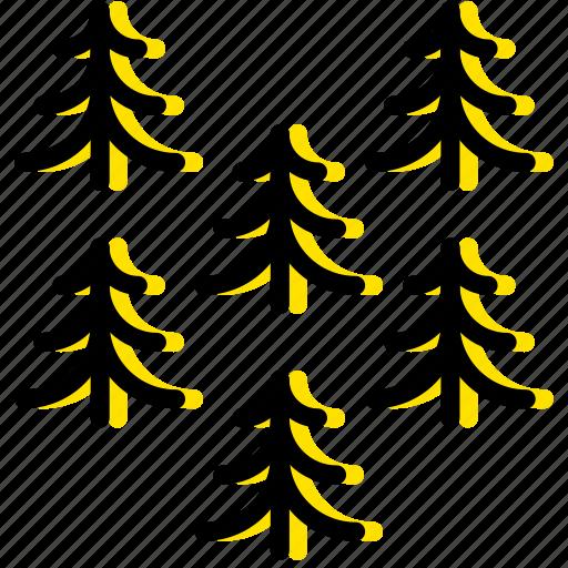 outdoor, pines, wild, yellow icon
