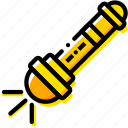 flashlight, outdoor, wild, yellow icon