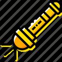 flashlight, outdoor, wild, yellow
