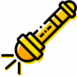 flashlight, outdoor, wild, yellow icon