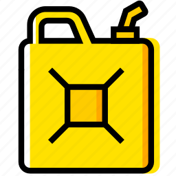 can, jerry, outdoor, wild, yellow icon