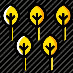 outdoor, trees, wild, yellow icon