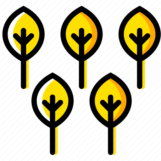 outdoor, trees, wild, yellow icon