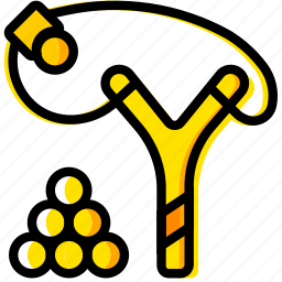 outdoor, slingshot, wild, yellow icon