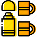 outdoor, thermos, wild, yellow icon
