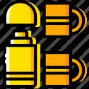 outdoor, thermos, wild, yellow icon