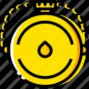 canteen, outdoor, wild, yellow icon